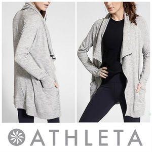 Athleta   Studio Wrap Cardigan -Grey